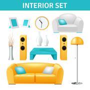 Stock Illustration of Interior Design Set