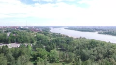 Panorama of the city. Shooting from a quadrocopter Stock Footage