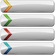 blank web buttons - stock illustration
