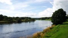 Beautiful River Dee, Aberdeenshire - Aberdeen Scotland Stock Footage