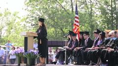 High school graduation Stock Footage