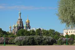 Orthodox Church of the Savior on blood. Saint-Petersburg, Russia - stock photo