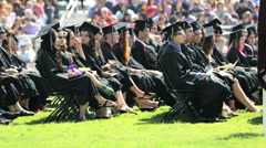 High school graduation - stock footage