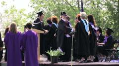 Graduation ceremony at Mapleton Public Schools. Stock Footage