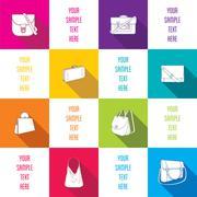 Stock Illustration of creative fashion bag info-graphics design vector