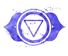 Ajna chakra symbol. - stock illustration