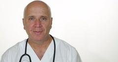 Hospital Public Transmission Medical Report Doctor Smile Face Health Care Debate Stock Footage