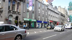 Union Street is the busiest street in Aberdeen, Scotland - stock footage