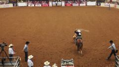 Cowboys at a Rodeo in Texas 01 Stock Footage