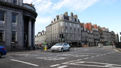Stock Video Footage of Union Street is the busiest street in Aberdeen, Scotland