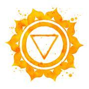 Stock Illustration of Manipura chakra symbol.