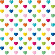 Valentine day gift wrapping paper design vector Stock Illustration