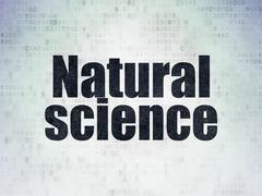 Stock Illustration of Science concept: Natural Science on Digital Paper background