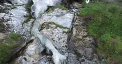 Waterfall, alps Stock Footage