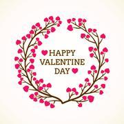 Creative happy valentine day greeting design Stock Illustration
