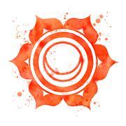 Svadhisthana chakra symbol. Stock Illustration
