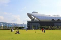 Kai Tak Runway Park Stock Photos