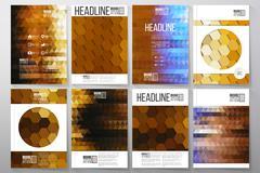 Business templates for brochure, flyer or booklet. Night city landscape Stock Illustration
