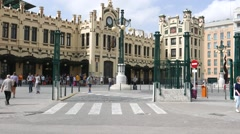 Valencia, Spain Train Station Stock Footage