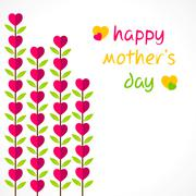 Stock Illustration of creative happy mothers day greeting design vector