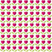 heart shape pattern design background vector - stock illustration
