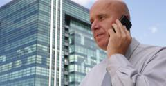 Financial Concept Free Market Player Financial Agent Smartphone Talking Business - stock footage