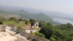 A Panoramic View of Udaipur Lake City Stock Footage