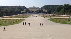 Stock Video Footage of Schonbrunn Castle-  Vienna, Austria - Europa