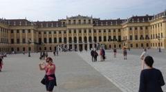Schonbrunn Castle-  Vienna, Austria - Europa Stock Footage