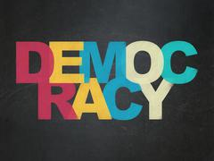 Political concept: Democracy on School Board background Stock Illustration