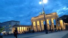 Pedestrians in Berlin. Time lapse Arkistovideo