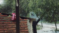 Satellite TV house in a native village of North Argentina Stock Footage