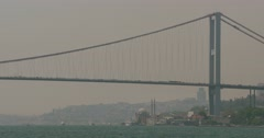 Istanbul Bosphorus Bridge Stock Footage