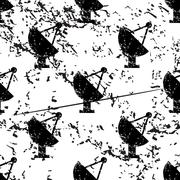Satellite dish pattern, grunge, monochrome Stock Illustration