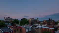 Washington DC city center urban sunset time lapse Stock Footage