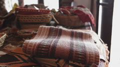 Traditional native's clothes made in Formosa Argentina on a Shop Stock Footage
