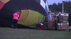 Close Up Inflating Hot Air Balloon For Night Glow 06 Stock Footage