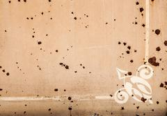 background of peeling paint and rusty old metal - stock photo