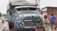 Vintage Truck parked in the North of Argentina Stock Footage
