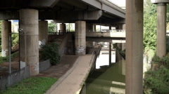 Under Spaghetti Junction interchange. Stock Footage