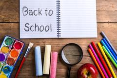 Back to school composition Stock Photos