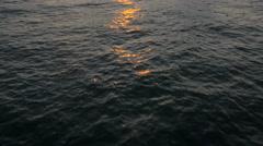 Aerial Drone Needles UK sea Helipad tourism sunset - stock footage