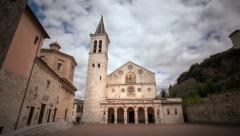 Spoleto Cathedral Stock Footage