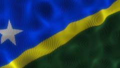 Waving Flag Solomon Islands Stock Footage