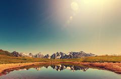 Lake in Caucasus Stock Photos