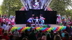 Сlown Show on the stage. Stock Footage