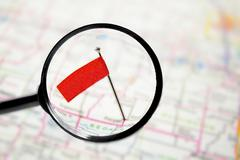 Locator flag - stock photo