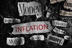 Inflation newspaper Kuvituskuvat