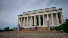 Lincoln Memorial Washington DC day time lapse Stock Footage