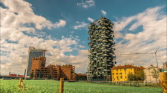 Vertical Forest is a pair of residential towers. Stock Footage